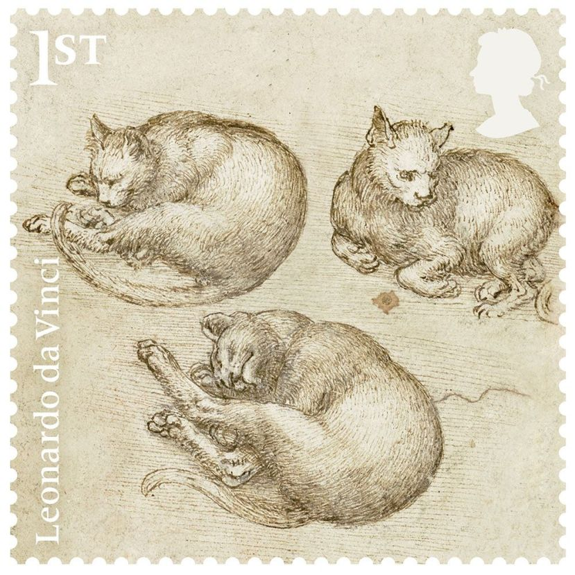 leonardo_studies_of_cats_stamp__1000_1